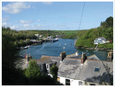 Views across Fowey River